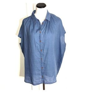 NWT Madewell Chambray Central Shirt Indigo Large